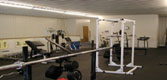 A portion of the weight room